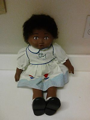 Baby Whitney Black African American Doll  First Edition Blue Dress
