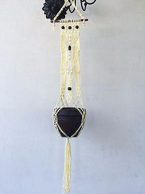 handmade Macrame plant hanger pot hanger bird feeder 46 inches