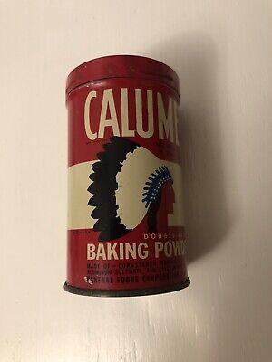 Vintage Calumet Double Acting Baking Powder Tin Empty
