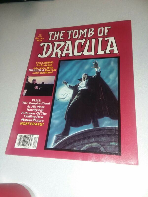 Tomb of Dracula (Magazine) #2 marvel comics 1979 bronze age horror movie reviews