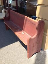 Antique Victorian Kauri Pine Church Pew New Town Hobart City Preview