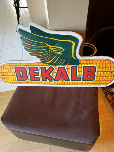Vintage Dekalb Corn Agriculture Farm Feed Seed Sign