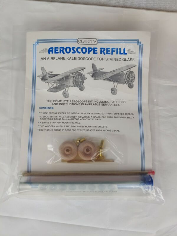 CLARITY KALEIDOSCOPE KIT FOR AEROSCOPE AIRPLANE IN STAINED GLASS