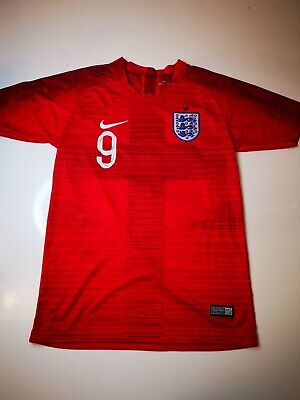 Genuine Nike England Away Football Shirt Kane 9 Red 2018-2019 - Size 164