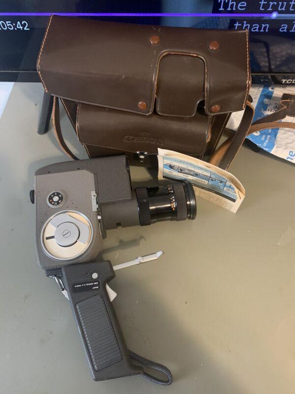 Canon Zoom 8 Super 8 Camera w/ Leather Case