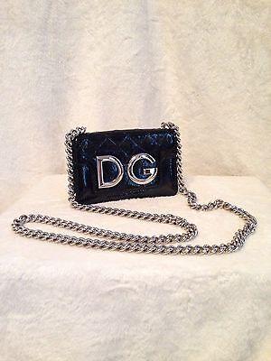 *NEW* DOLCE & GABBANA BLACK patent leather Handbag Evening Bag MSRP $1,495.00