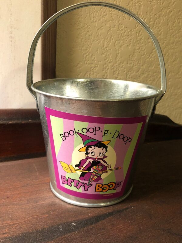 Betty Boop Bewitching Galvanized Mini Bucket Vandor 2005