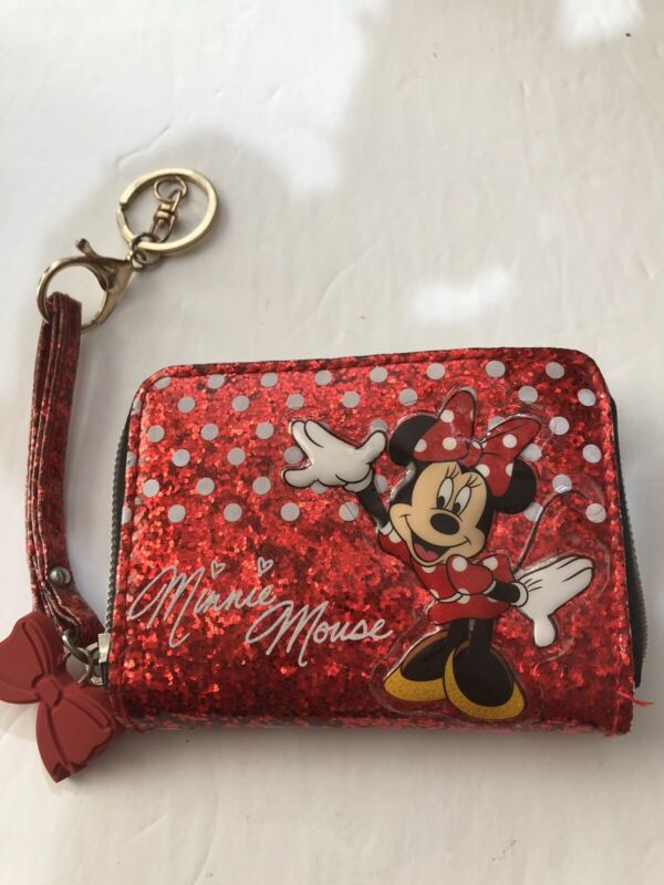 Disney Parks Minnie Mouse Red  Wallet