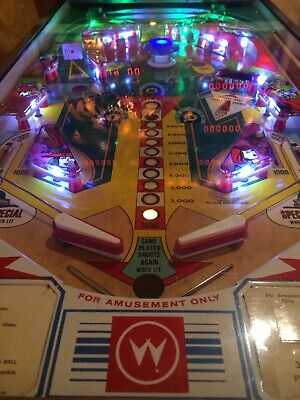 Vintage Williams Hot Tip 1977 Pinball Machine Clean Fully Working