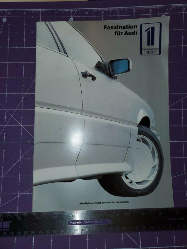 1987 Faszination for Audi/Treser brochure Quattro Superpfeil Coupe