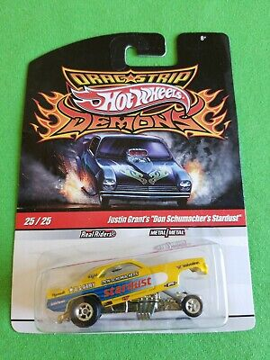 2010 Hot Wheels Demons PLYMOUTH CUDA FUNNY CAR Justin Grant's LITTLE BEND CARD