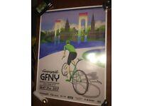 """POSTER BICYCLE BIKE RIDE GRAN FONDO GFNY NY New York May 21 2017 18/"""" x 24/"""""""