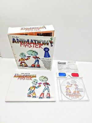 Martin Hash's Animation Master CD ROM and Booklet 2002 Windows XP 2000 98 95 MAC