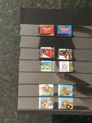 East Timor 2000 - 2005 first ten stamps of new Nation East Timor - Timor Leste