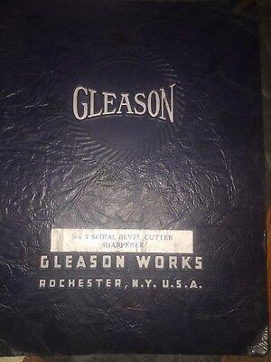 Gleason No. 7 Spiral Bevel Cutter Sharpener Instructions
