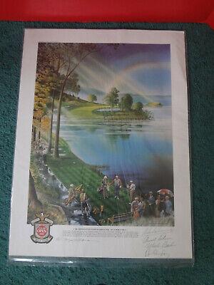 LOYAL H CHAPMAN No.16 Hazeltine National Litho Hand Signed by Arnold Palmer +