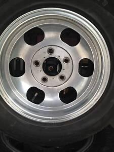 Holden HQ Stud Mag Tyres & Rims Kurrajong Hills Hawkesbury Area Preview