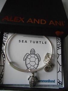 Alex and Ani SEA TURTLE Expandable Wire Bracelet Rafaelian Silver NWTBC