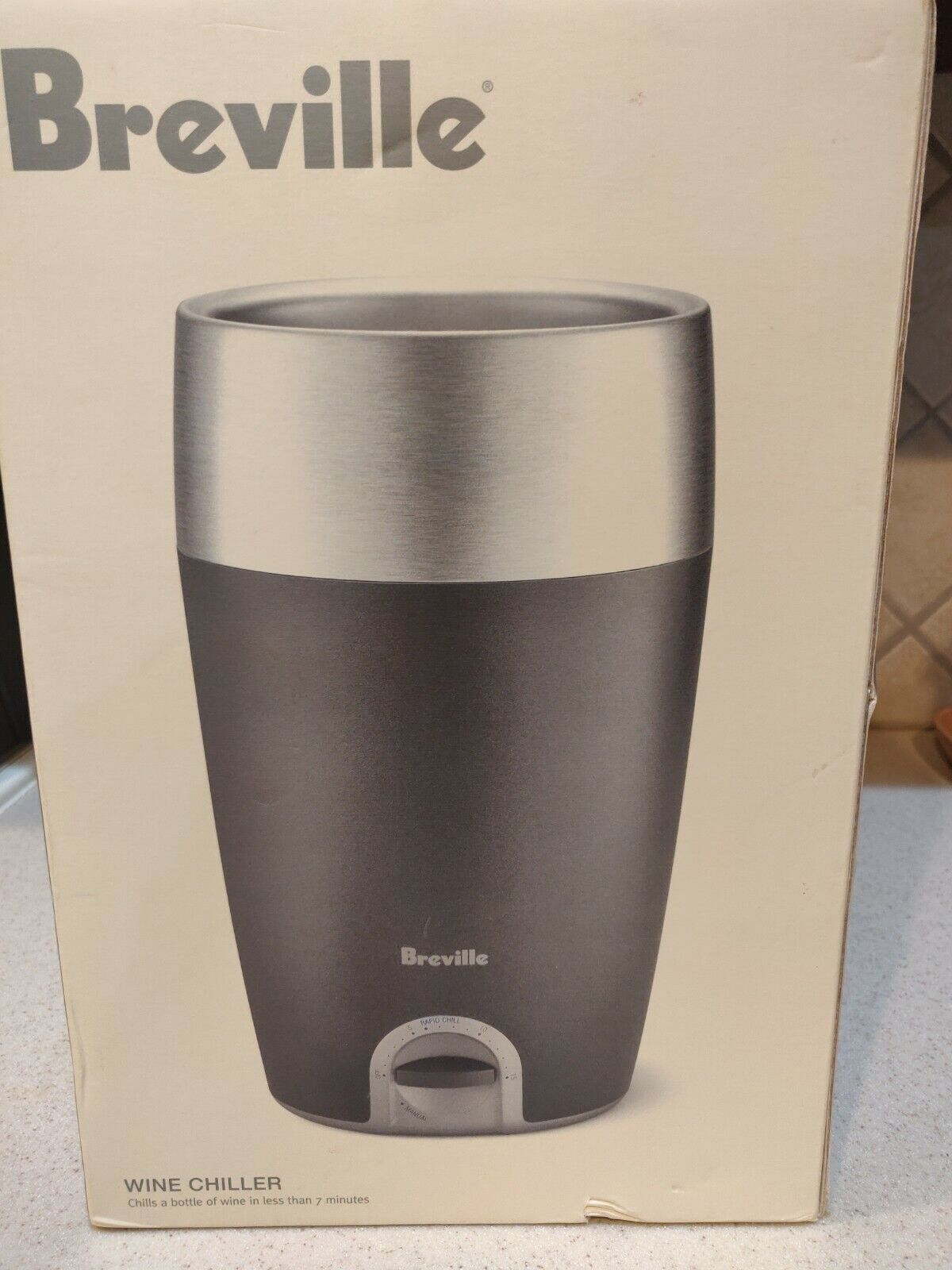 Breville Stainless AC/DC Free-Standing Rapid 7 minute Wine Chiller Cooler picnic