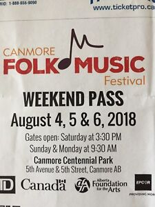 Canmore Folk Music Festival ticket