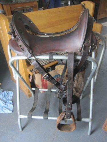"McClellan Antique Military Calvary Saddle 12""  Beautiful Collectors Piece"