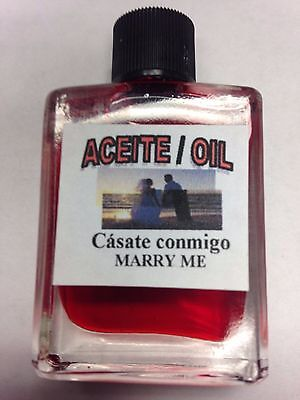 MYSTICAL / SPIRITUAL OIL ACEITE FOR SPELLS & ANOINTING 1/2 OZ - MARRY ME