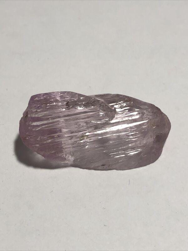 """Natural Untreated Pink Kunzite Crystal 1.5"""" long 16.2g 81 carats"""
