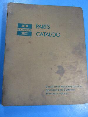 Bucyrus Erie Parts Catalog Model 30b Excavator