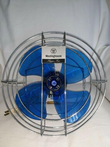WESTINGHOUSE BLUE VINTAGE FAN ADIO-1 MID CENTURY BLUE BLADES