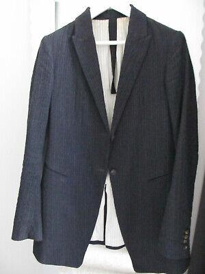 FORME D'EXPRESSION Charcoal Black Pinstriped Cotton & Wool JACKET Blazer 44IT/M