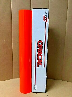 Oracal 6510 1 Roll 24x5ft Fluorescent Red Orange 038 Sign Vinyl