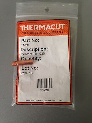 Item 313-thermacut 11-30 Contact Tips .0300.8mm 1 Mini Mig Guns10 Pack