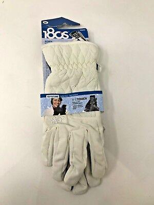 180's Brand Women's Snow White Touchscreen Compatible Size Medium Winter - Snow White Gloves