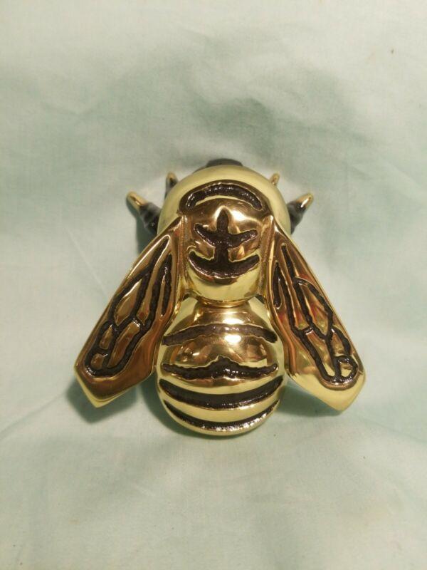 Michael Healy Bumblebee Door Knocker Solid Brass, New, Signed.