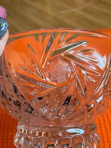 Heavy Crystal Pinwheel design bowl