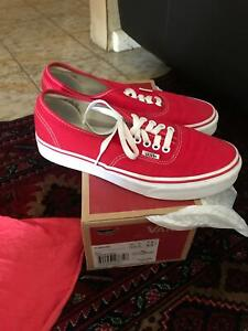 39218164f44 Vans red authentic size 7 men s (womens 8.5)