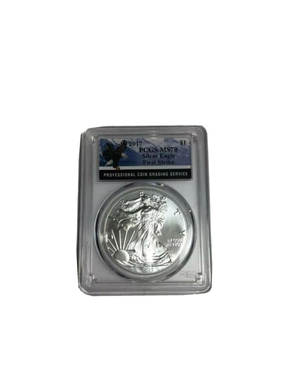 2017 Silver Eagle Pcgs MS70 First Strike