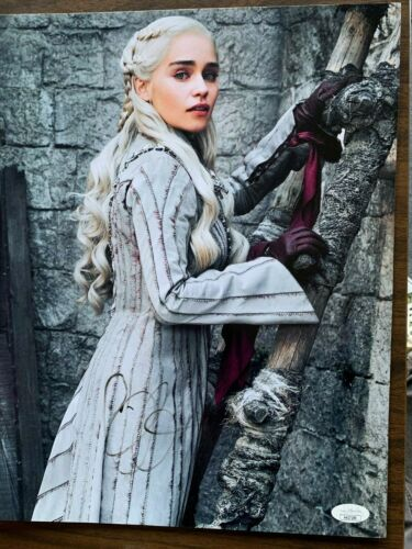 Game of Thrones Emilia Clarke Autographed Signed 11x14 Photo JSA COA #5