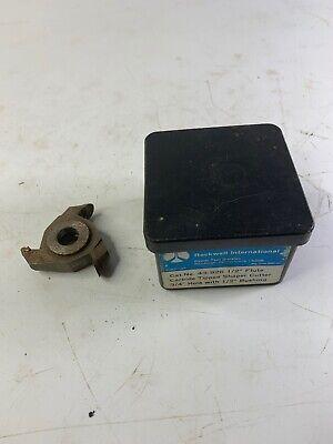 Rockwell International 43926 Carbide Tipped Shaper Cutter