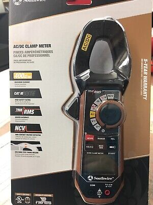 Southwire Professional True Rms Acdc Clamp Meter Cat Iii 600 V Volt 21550t New