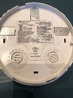 Fire Alarm Notifier Smoke Detector Fapt-851 Used Free Shipping