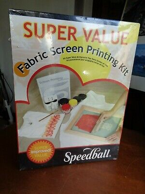 Sealed Speedball Fabric Screen Printing Super Value Kit # 4526 (Fabric Screen Printing Kit)