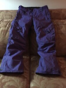Snowboard Pants Ladies/Teen XS  686 Purple With Liner