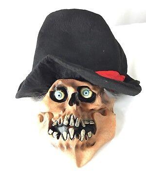 Shrunken Head Full Head Face Rubber Mask Halloween Costume Adult Wig L-D](Rubber Face Masks Halloween Costume)