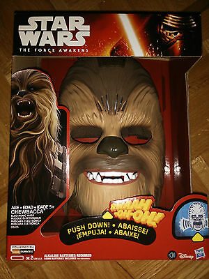 Star Wars The Force Awakens Chewbacca Electronic Mask  BRAND NEW SEALED HASBRO