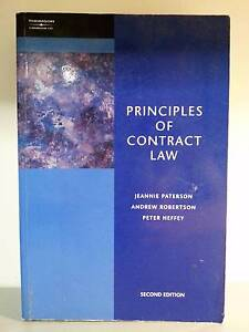Principles of Contract Law 2nd ed. Coopers Plains Brisbane South West Preview