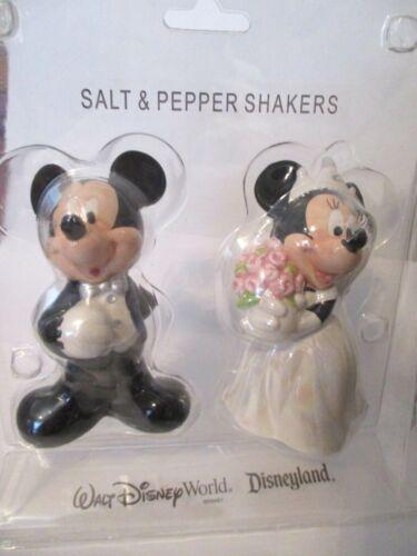 Walt Disney World Mickie & Minnie Mouse Wedding Salt & Pepper Shakers