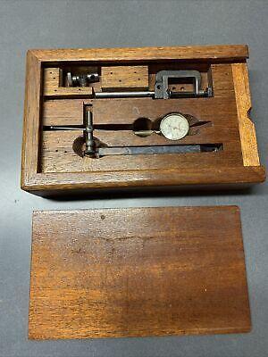 Oak Wooden Box Case For Starrett No 196 Dial Indicator Set Box Only