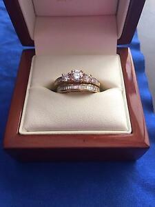 Wedding Set 18ct yellow Gold Diamond Engagement & Diamond Wedding Yerrinbool Bowral Area Preview