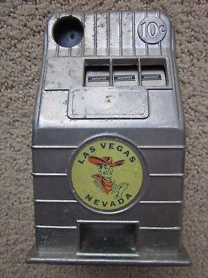 - Vintage Las Vegas Nevada Metal Toy Coin Slot Machine Jackpot Bank
